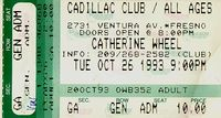 Catherine Wheel at the Cadillac Club Concert  Ticket