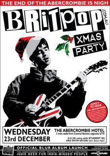 Britpop Christmas Party - December 23rd