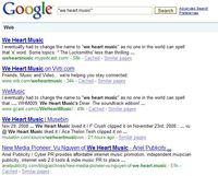 Google Search (1-11-2009)