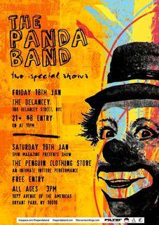 Panda Band Flier
