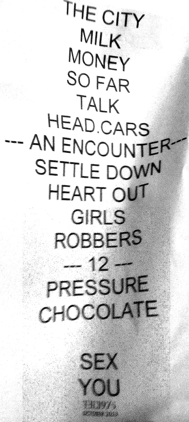 The coloring book tour setlist - Photo Of Setlist