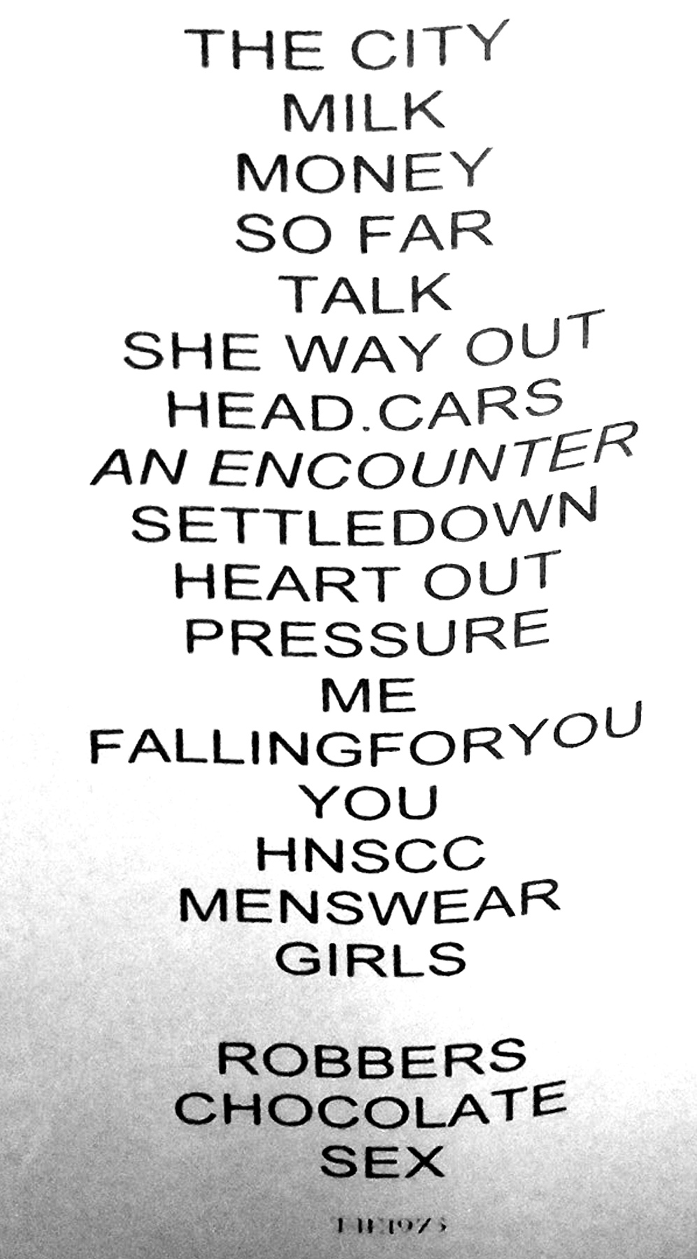 The coloring book tour setlist - The 1975 Setlist