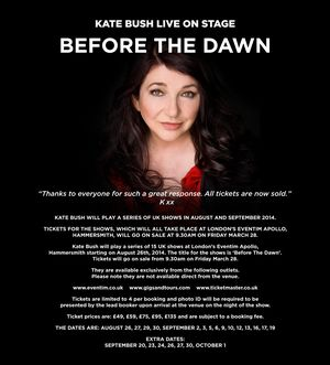 Kate Bush: Before the Dawn - W♥M