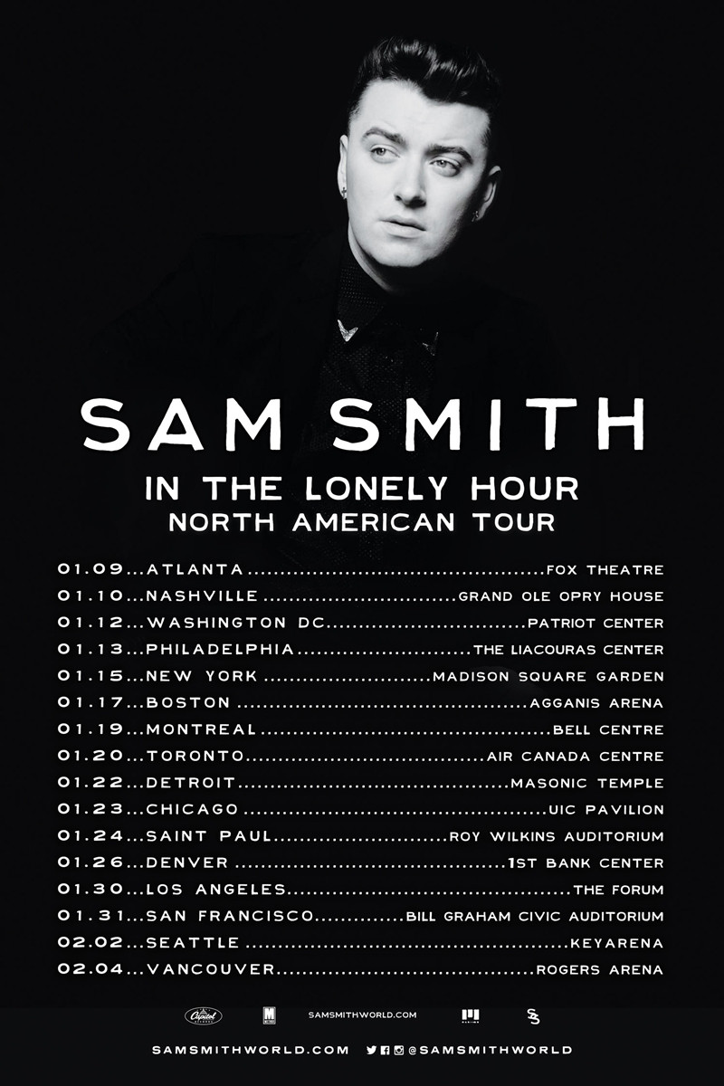 The coloring book tour setlist - Sam Smith W George Ezra At Roy Wilkins St Paul 24 Jan 2015