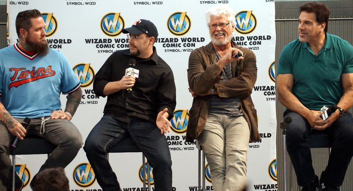 Chris 51, Clinton Hobart, Barry Bostwick, and Lou Ferrigno