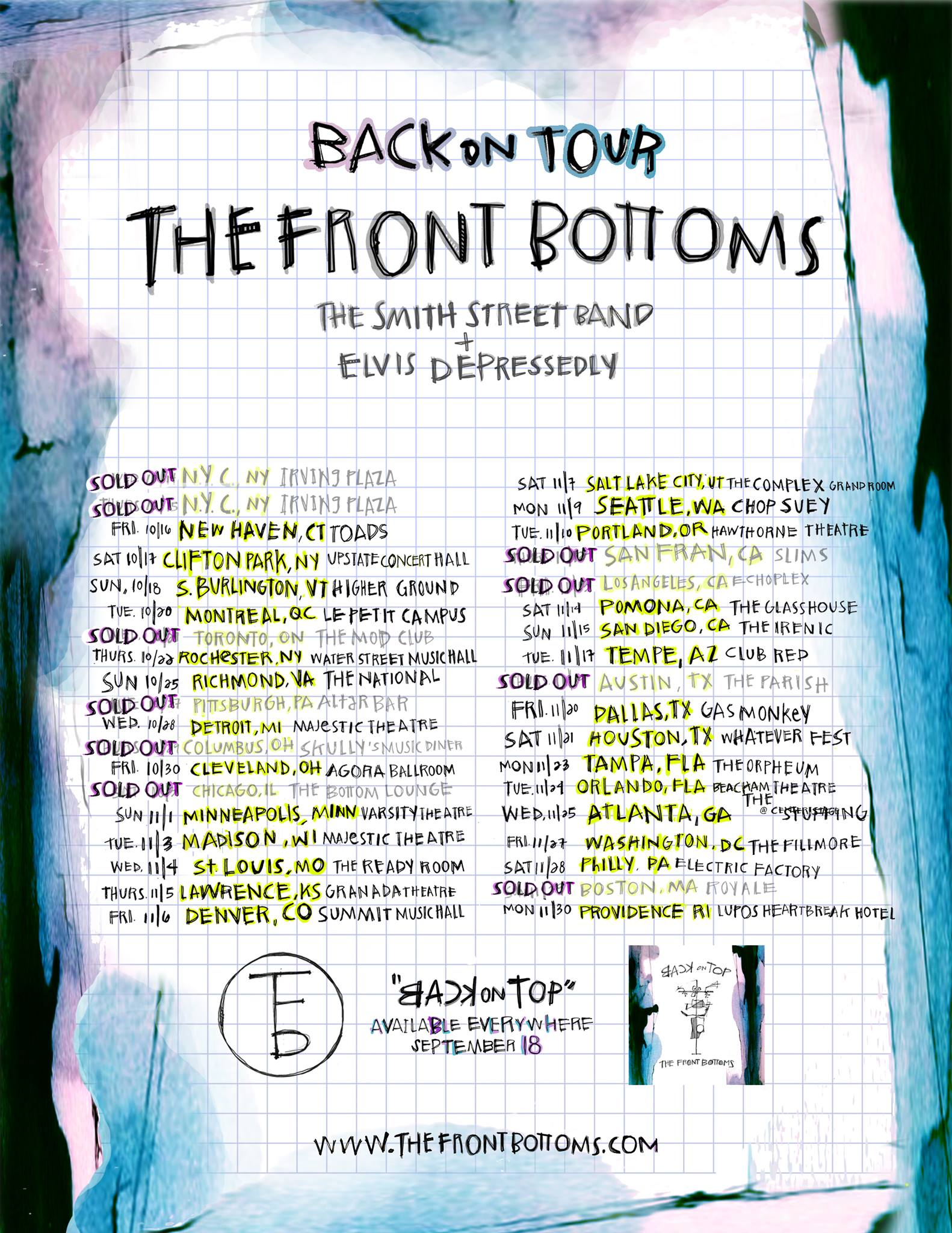 The Front Bottoms at Varsity Theater Minneapolis 1 Nov 2015 W♥M