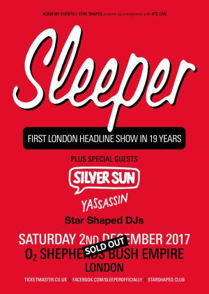 Sleeper at O2 Shepherd's Bush Empire, London (02 Dec 2017) - W♥M