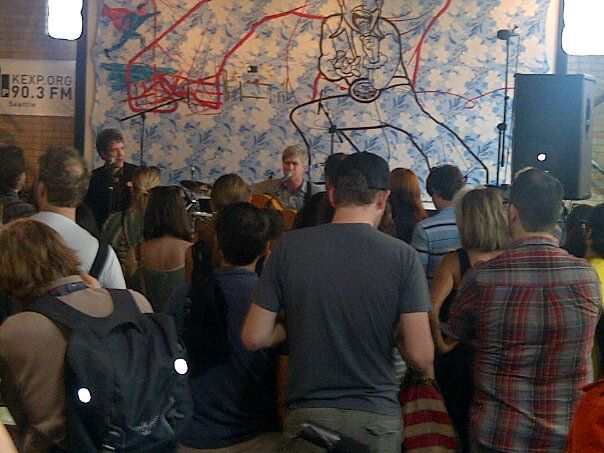 Nada Surf at Mellow Johnny's KEXP show (03/15/12)